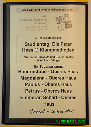Klangtag am Petersberg Programm