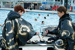 Singing bowls in Finland thermal bath