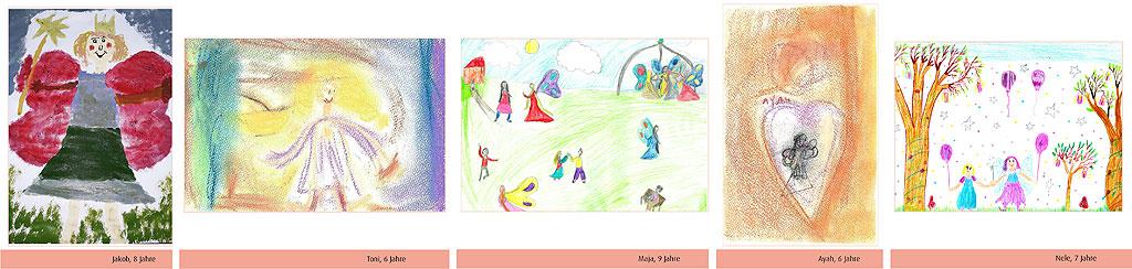 Kinder Malwettbewerb Gewinner*innen Altersgruppe 6-9 Jahre