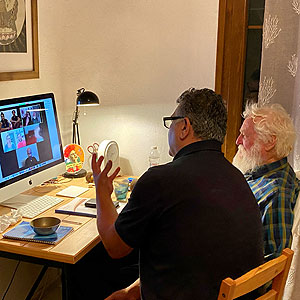 Online Seminare mit Klangschalen Peter und Niko