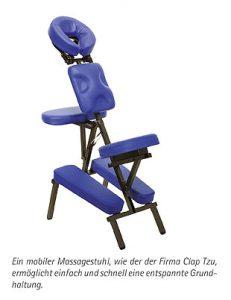 Mobile Klangmassage Massagestuhl